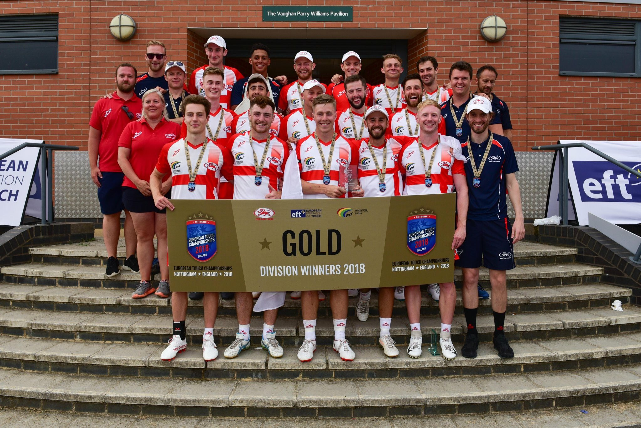 Touch rugby players enjoyed success representing England