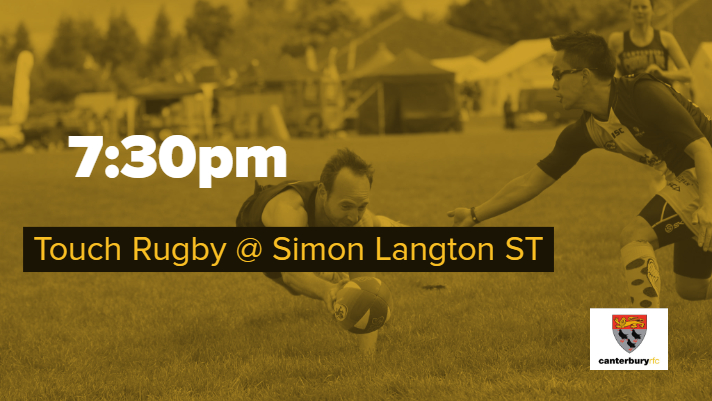 Touch Rugby & Mixed Social, Simon Langton ST
