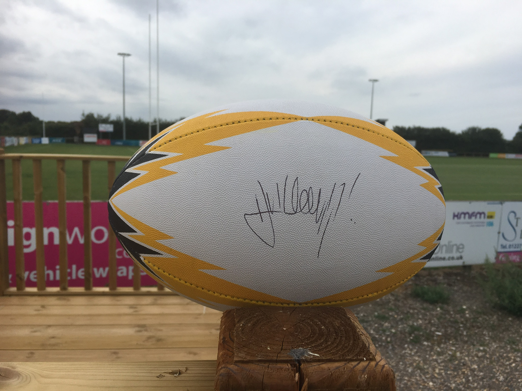 Rugby Ball signed by Dylan Hartley