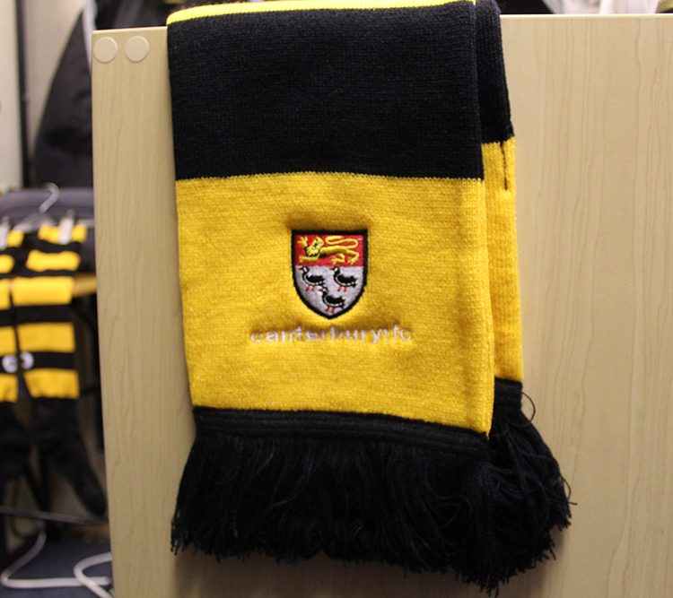 Adult scarf available from the club store