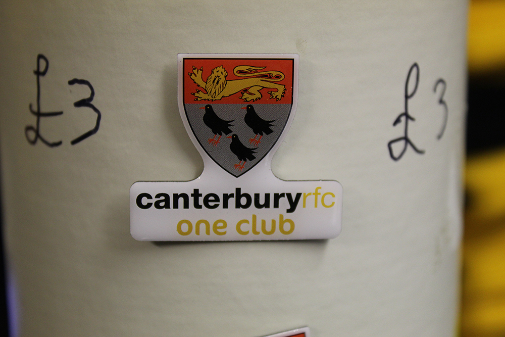 Canterbury Rugby Club metal pin badge.