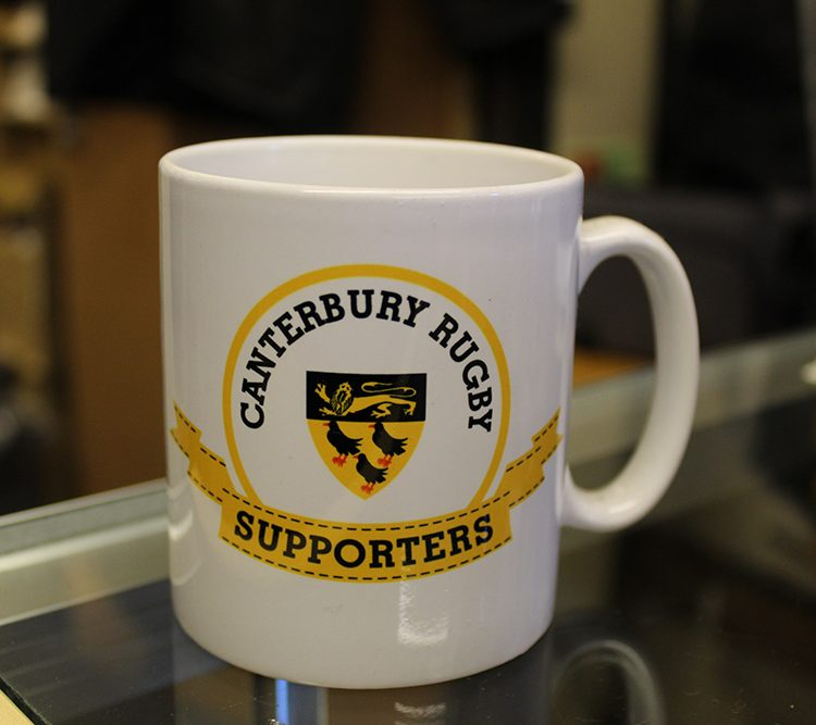 Canterbury Rugby Club supporters mug.