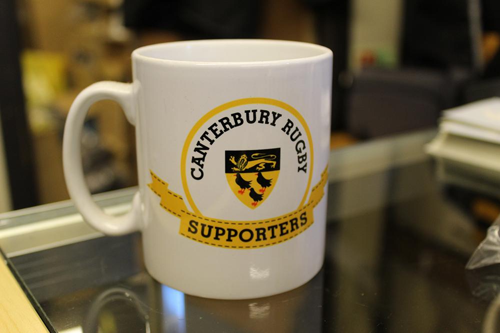 Canterbury Rugby Club supporters mug.